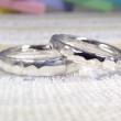 槌目風の甲丸 指輪 (結婚指輪)