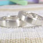 シンプルだけど、こだわりのある結婚指輪(愛知県からのご注文)