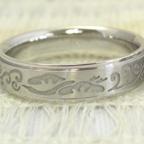 和風の結婚指輪 (神奈川県よりご来店)