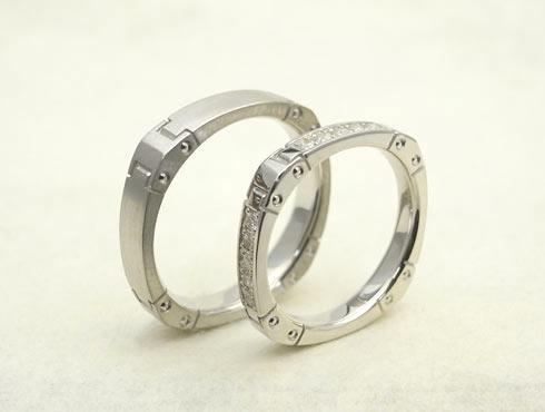 かっこいい結婚指輪(時計のバンド風) 01