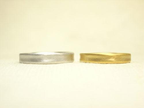 やさしいフォルムの結婚指輪