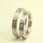 花柄 結婚指輪 (誕生花)