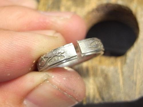 和風柄の結婚指輪のサイズ直しと新品仕上げ 02