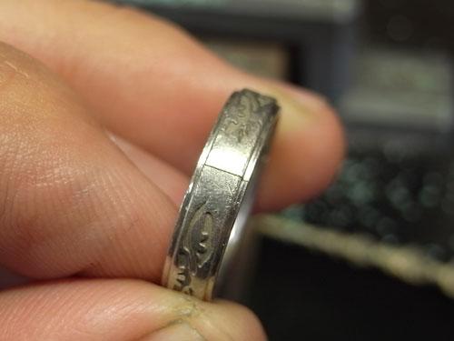 和風柄の結婚指輪のサイズ直しと新品仕上げ 03