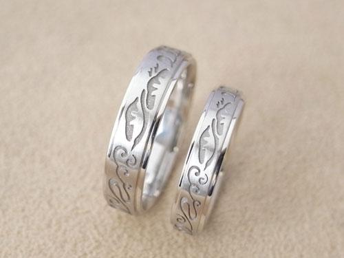 和風柄の結婚指輪のサイズ直しと新品仕上げ 06