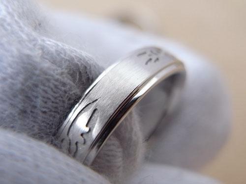 和風柄の結婚指輪のサイズ直しと新品仕上げ 07