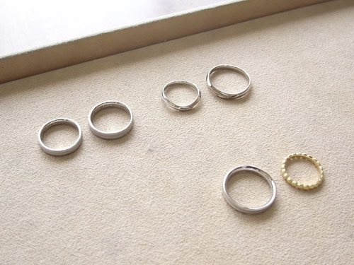 製作していた、結婚指輪