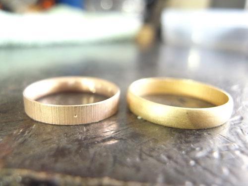 オーダーメイドで製作中婚約指輪 02