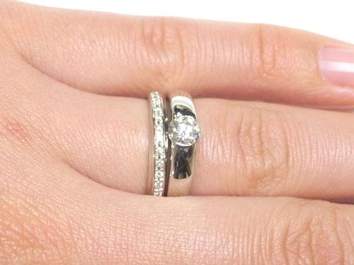 プラチナのシンプルな結婚指輪 03