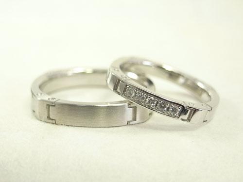 かっこいい結婚指輪 時計バンド風01