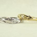 フェデリング|手を握り合った結婚指輪