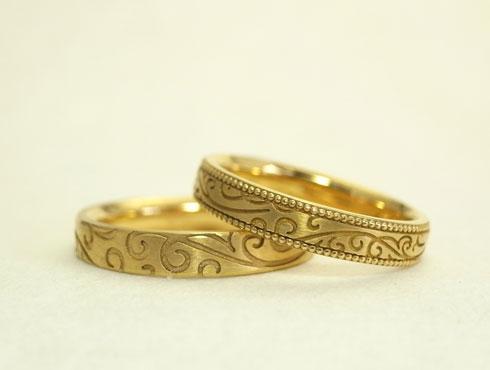 唐草模様の結婚指輪 02