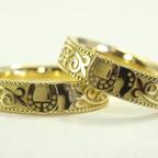 馬蹄の結婚指輪(ゴールド)