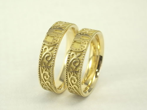馬蹄の結婚指輪 02