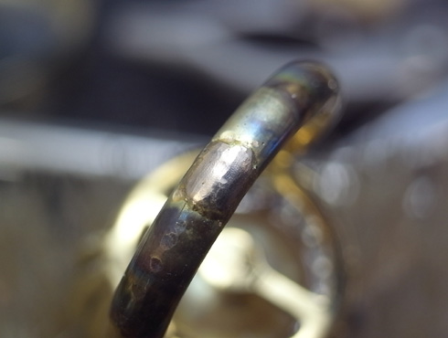 パールのリングのサイズ直し02