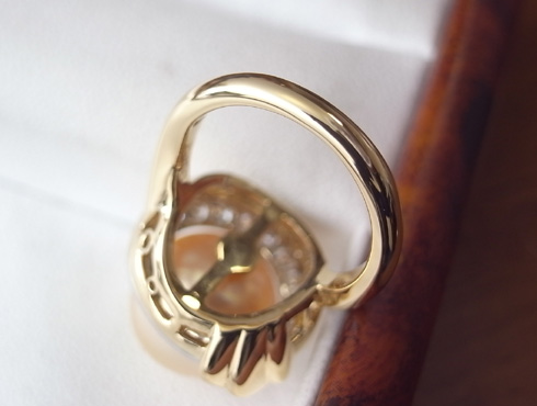 パールのリングのサイズ直し07