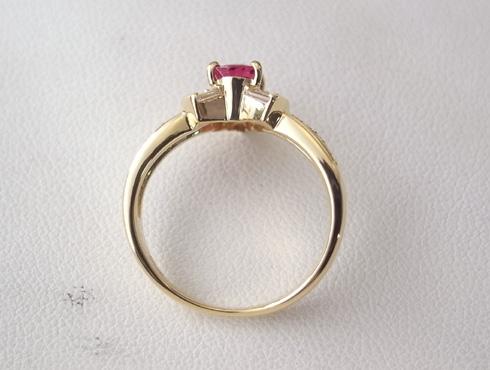 ルビーのリングのサイズ直し03