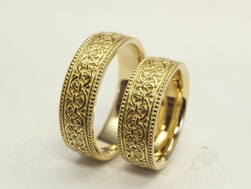 アンティークの結婚指輪 (ゴールド) 02