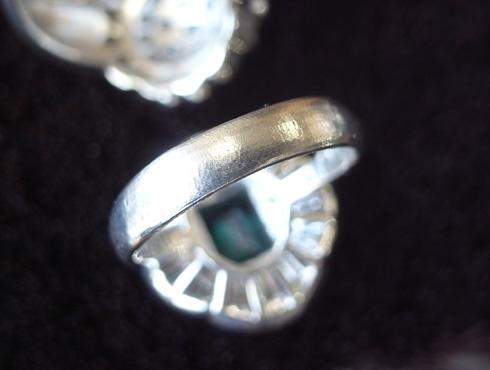 エメラルドの指輪のサイズ直し 02
