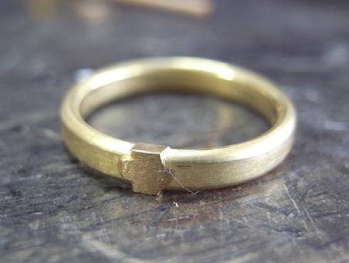 シンプルな結婚指輪のサイズ直し03