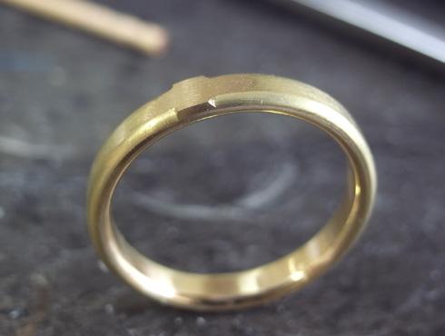 シンプルな結婚指輪のサイズ直し06