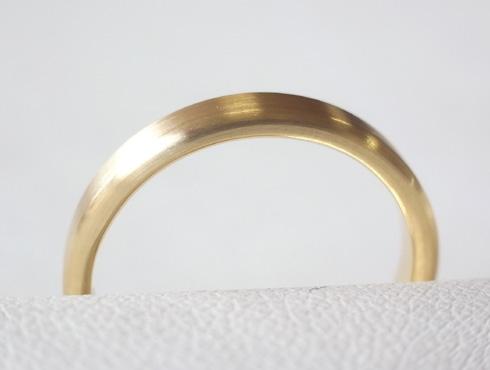 シンプルな結婚指輪のサイズ直し10