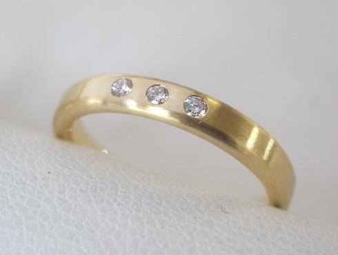 シンプルな結婚指輪のサイズ直し11