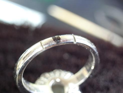 クリソベリルキャッツアイの指輪のサイズ直し 02