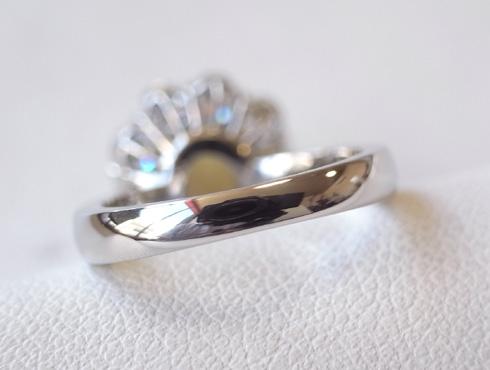クリソベリルキャッツアイの指輪のサイズ直し 10