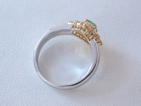 エメラルドの指輪のサイズ直し 03