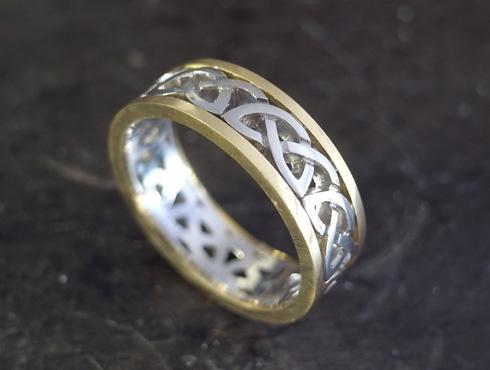 コンビのケルティックノット模様の指輪 ロー付け