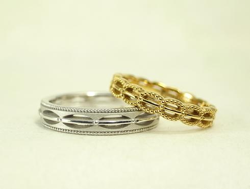 エッグのオリジナル アンティーク調の結婚指輪