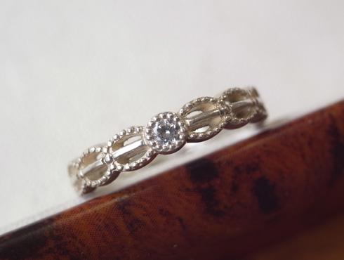 アンティーク調の結婚指輪のサンプル 01