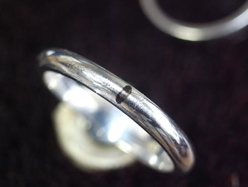 パール付きの指輪のサイズ直し 手順 03