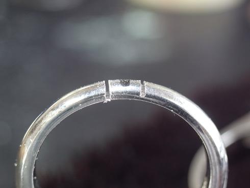 パール付きの指輪のサイズ直し 手順 04