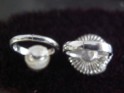 パール付きの指輪のサイズ直し 手順 07