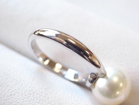 パール付きの指輪のサイズ直し 手順 10