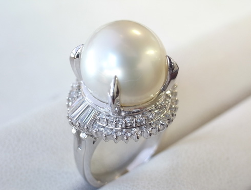 パール付きの指輪のサイズ直し 手順 12
