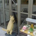看板ネコのアイディア、、、 銀閣寺の近くにあるカフェ