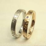桜柄の結婚指輪 新品仕上げ (磨き直し)