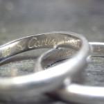 カルティエの結婚指輪 サイズ直し(出来るだけ刻印を消さずに)