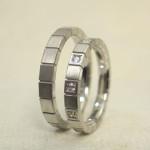 シャープ感のある結婚指輪