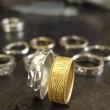 唐草模様 結婚指輪 製作