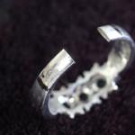 指輪のサイズ11.5号⇒19番へ かなり大きなサイズ伸ばし
