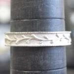 オリジナルの結婚指輪を製作中