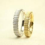 樹木柄の結婚指輪
