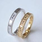 彫りの結婚指輪