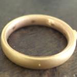 2色の婚約指輪(イエローゴールドとピンクゴールド)