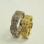 アンティークの結婚指輪(ホワイトゴールド)