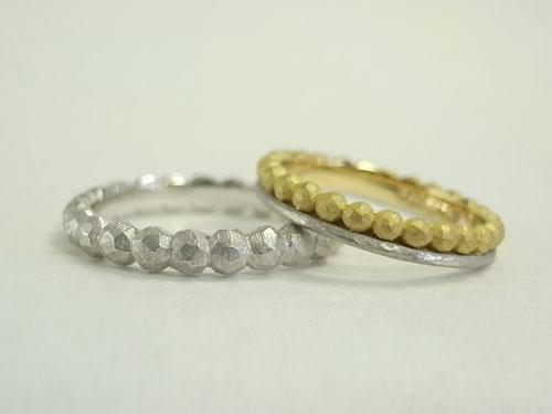 アトリエエッグのオリジナル 個性的な結婚指輪